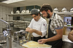 lo chef Crescenzo Scott con Raffaele Angelillo